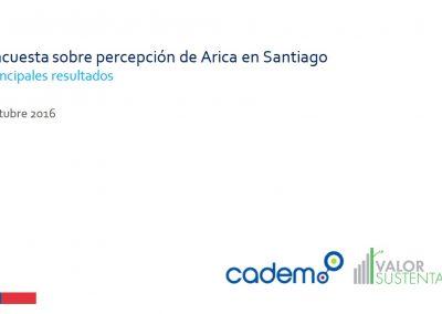 Encuesta Percepción Arica en Santiago